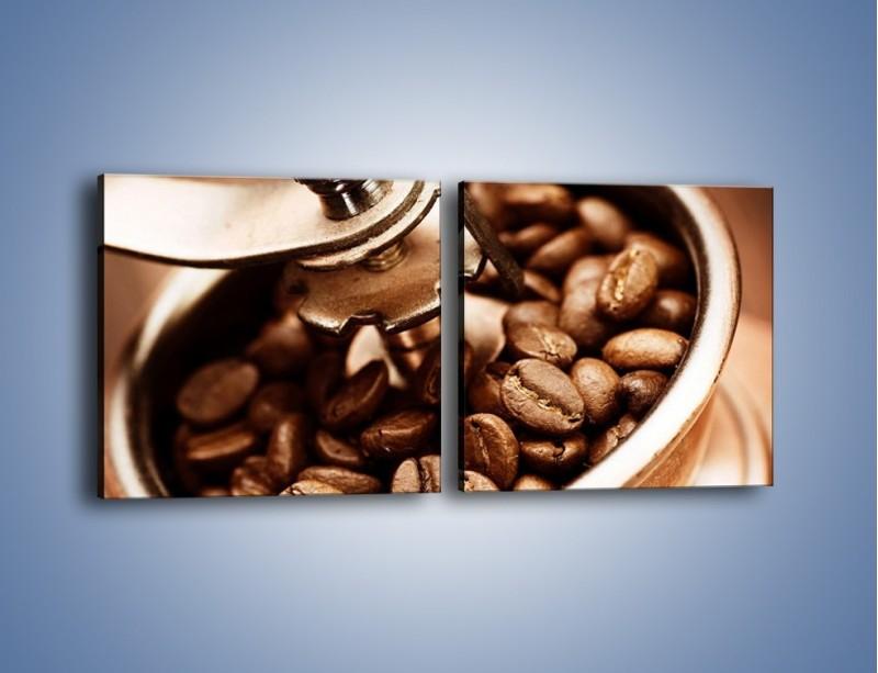Obraz na płótnie – Kawa w młynku – dwuczęściowy kwadratowy poziomy JN361