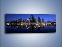 Obraz na płótnie – Brisbane w Australii nocą – jednoczęściowy panoramiczny AM354