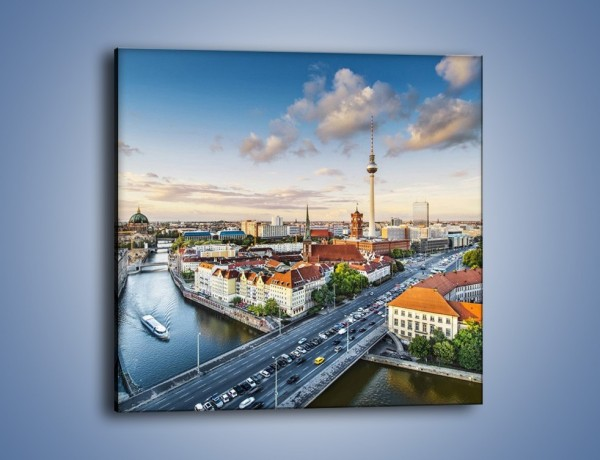 Obraz na płótnie – Panorama Berlina – jednoczęściowy kwadratowy AM673