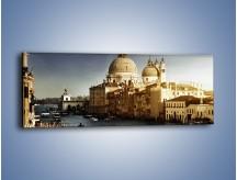Obraz na płótnie – Zapadający zmrok na Wenecją – jednoczęściowy panoramiczny AM356