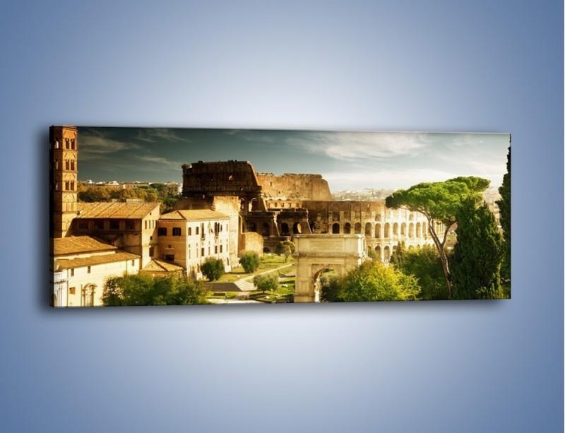 Obraz na płótnie – Ruiny starożytnego Rzymu – jednoczęściowy panoramiczny AM357