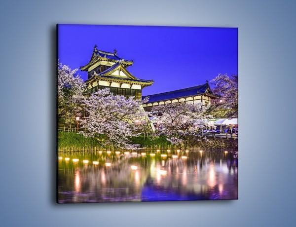 Obraz na płótnie – Zamek Yoshida-Kōriyama – jednoczęściowy kwadratowy AM676