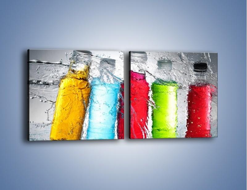 Obraz na płótnie – Alkohol zatopiony w wodzie – dwuczęściowy kwadratowy poziomy JN584