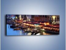 Obraz na płótnie – Wieczorowe życie w Wenecji – jednoczęściowy panoramiczny AM358