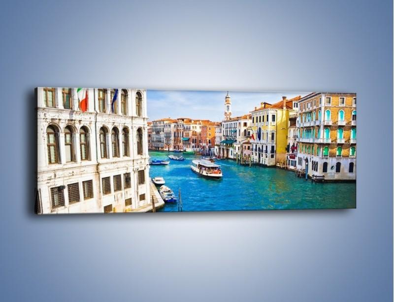 Obraz na płótnie – Kolorowy świat Wenecji – jednoczęściowy panoramiczny AM362