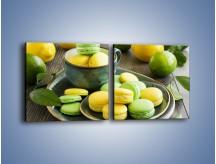 Obraz na płótnie – Cytrynowo-limonkowe ciasteczka – dwuczęściowy kwadratowy poziomy JN724