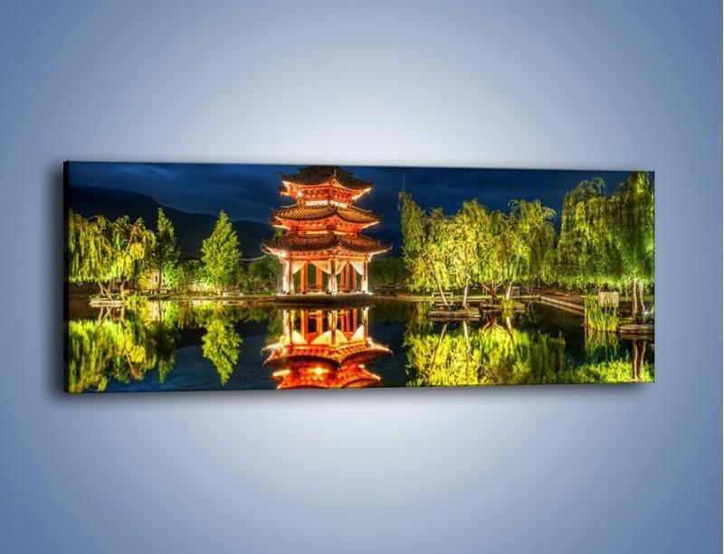 Obraz na płótnie – Urokliwy park w Chinach – jednoczęściowy panoramiczny AM365