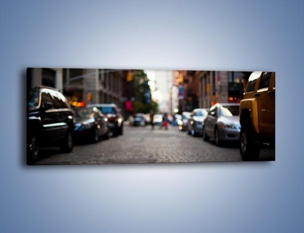 Obraz na płótnie – Rozmyty świat centrum miasta – jednoczęściowy panoramiczny AM367