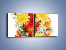 Obraz na płótnie – Bukiecik kwiatów z ogródka – dwuczęściowy kwadratowy poziomy K118