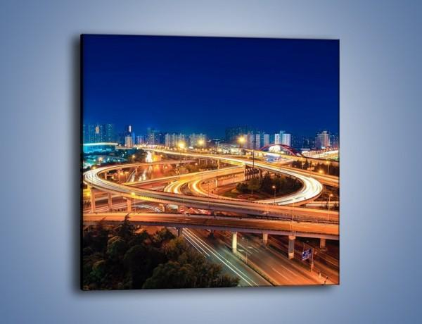 Obraz na płótnie – Estakada w Szanghaju – jednoczęściowy kwadratowy AM683