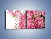 Obraz na płótnie – Bukiet pełny miłości – dwuczęściowy kwadratowy poziomy K208