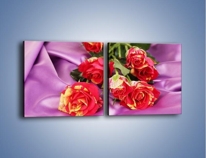 Obraz na płótnie – Błogi odpoczynek z różą – dwuczęściowy kwadratowy poziomy K251