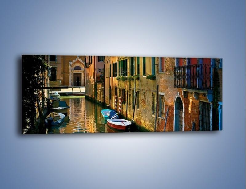 Obraz na płótnie – Cały urok Wenecji w jednym kadrze – jednoczęściowy panoramiczny AM371