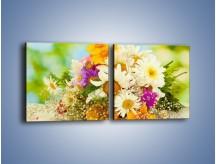 Obraz na płótnie – Bukiecik dla małej ogrodniczki – dwuczęściowy kwadratowy poziomy K369