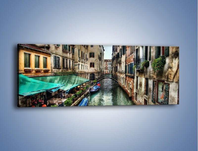 Obraz na płótnie – Wenecka uliczka w kolorach HDR – jednoczęściowy panoramiczny AM374