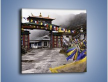 Obraz na płótnie – Brama do miasta Tawang w Tybecie – jednoczęściowy kwadratowy AM689