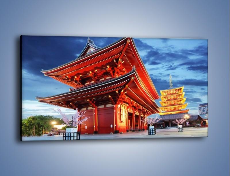 Obraz na płótnie – Świątynia Senso-ji w Tokyo – jednoczęściowy panoramiczny AM378