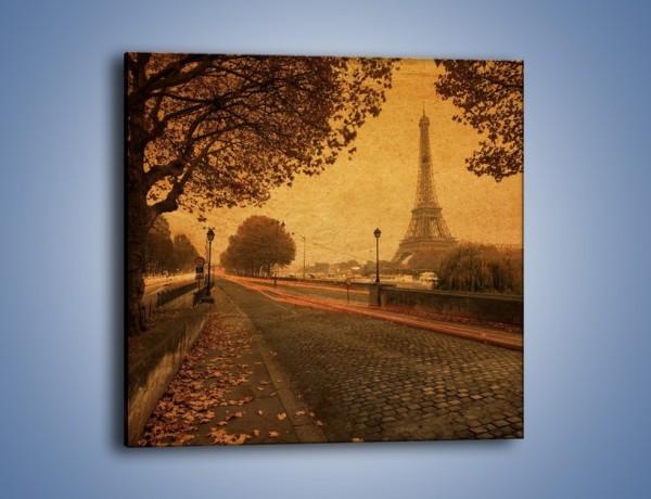 Obraz na płótnie – Ulice Paryża w stylu vintage – jednoczęściowy kwadratowy AM690