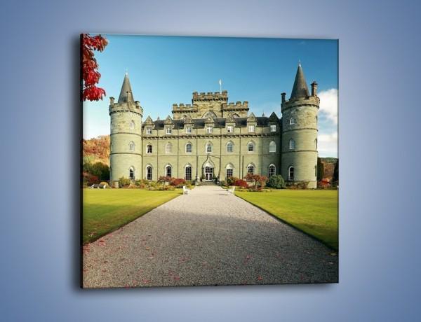Obraz na płótnie – Zamek Inveraray w Szkocji – jednoczęściowy kwadratowy AM691