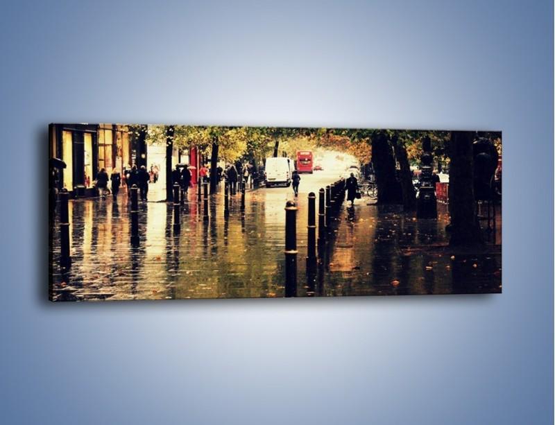 Obraz na płótnie – Deszczowa jesień w Moskwie – jednoczęściowy panoramiczny AM383