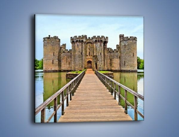 Obraz na płótnie – Zamek Bodiam w Wielkiej Brytanii – jednoczęściowy kwadratowy AM692