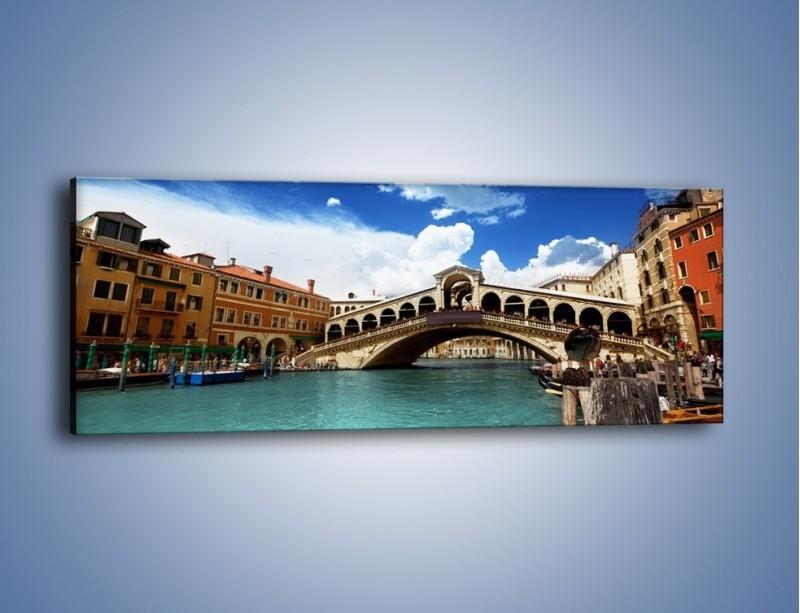 Obraz na płótnie – Most Rialto w Wenecji – jednoczęściowy panoramiczny AM386
