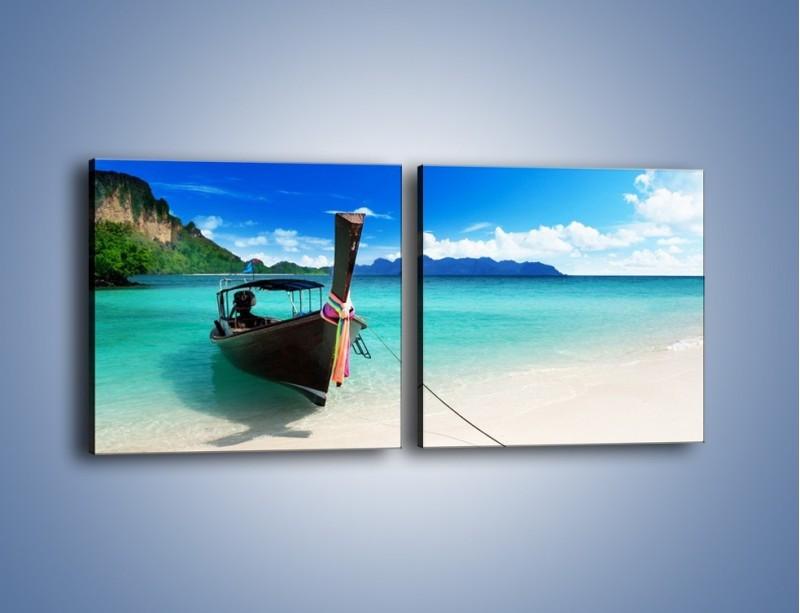 Obraz na płótnie – Wodny transport w tajlandii – dwuczęściowy kwadratowy poziomy KN083