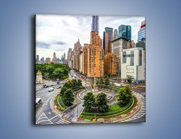 Obraz na płótnie – Rondo Columbus Circle w Nowym Jorku – jednoczęściowy kwadratowy AM694