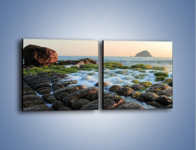 Obraz na płótnie – Ścisk wśród kamieni – dwuczęściowy kwadratowy poziomy KN1026