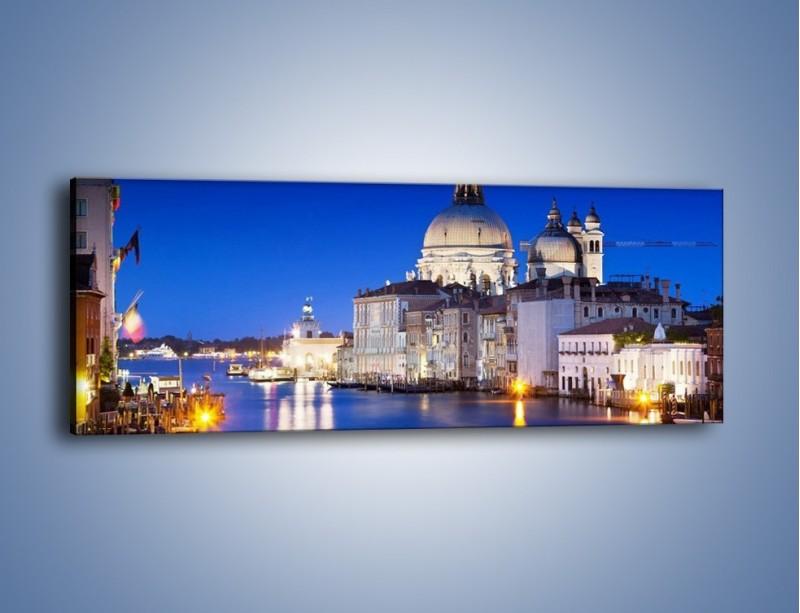 Obraz na płótnie – Bazylika Santa Maria della Salute nocą – jednoczęściowy panoramiczny AM388