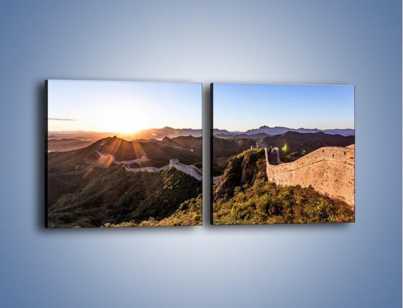 Obraz na płótnie – Za górami za lasami – dwuczęściowy kwadratowy poziomy KN1084A