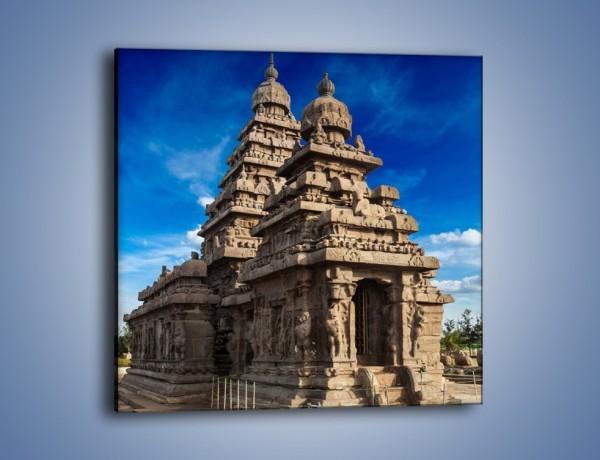 Obraz na płótnie – Nadbrzeżna świątynia Śiwy w Indiach – jednoczęściowy kwadratowy AM695