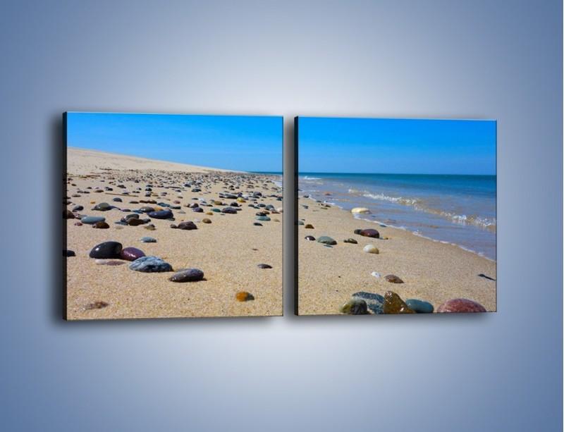 Obraz na płótnie – Całe morze kamyczków – dwuczęściowy kwadratowy poziomy KN1086A