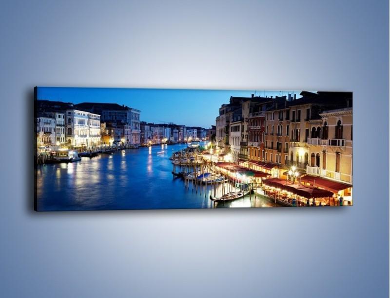 Obraz na płótnie – Zmierzch nad Wenecją – jednoczęściowy panoramiczny AM389