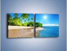 Obraz na płótnie – Bajeczne wakacyjne wspomnienia – dwuczęściowy kwadratowy poziomy KN1110A