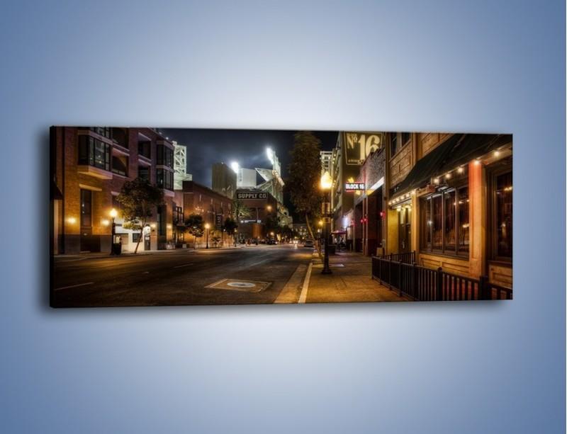 Obraz na płótnie – Ulica San Diego w Kaliforni – jednoczęściowy panoramiczny AM390