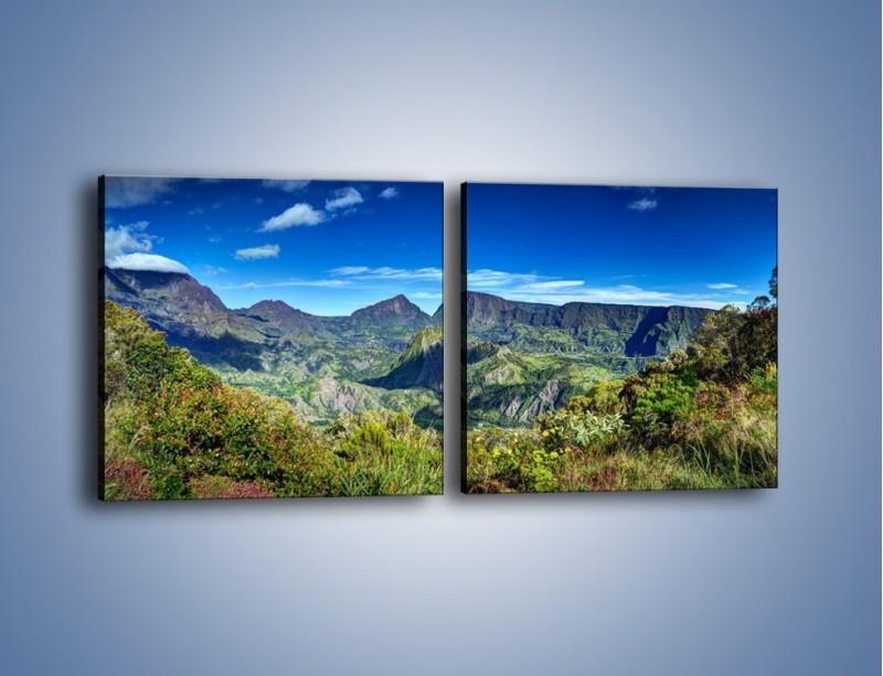 Obraz na płótnie – Cały góry pokryte zielenią – dwuczęściowy kwadratowy poziomy KN1140A
