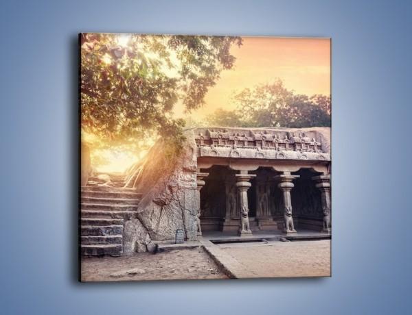Obraz na płótnie – Varaha Cave – świątynia wykuta w skale – jednoczęściowy kwadratowy AM698