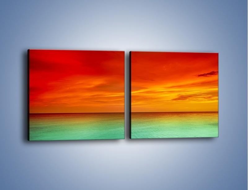 Obraz na płótnie – Horyzont w kolorach tęczy – dwuczęściowy kwadratowy poziomy KN1303A