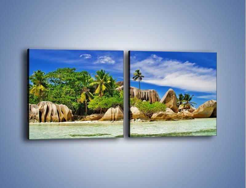 Obraz na płótnie – Tropiki i ich wysokości – dwuczęściowy kwadratowy poziomy KN1306A