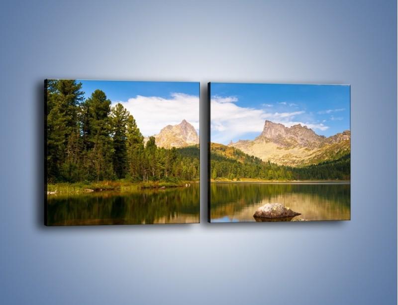 Obraz na płótnie – Widok nie tylko na góry – dwuczęściowy kwadratowy poziomy KN401