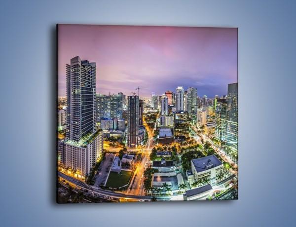 Obraz na płótnie – Centrum Miami – jednoczęściowy kwadratowy AM702