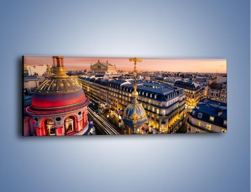 Obraz na płótnie – Paryska architektura – jednoczęściowy panoramiczny AM402