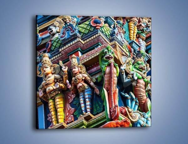 Obraz na płótnie – Zrobienia hinduskiej Świątyni Minakszi – jednoczęściowy kwadratowy AM703