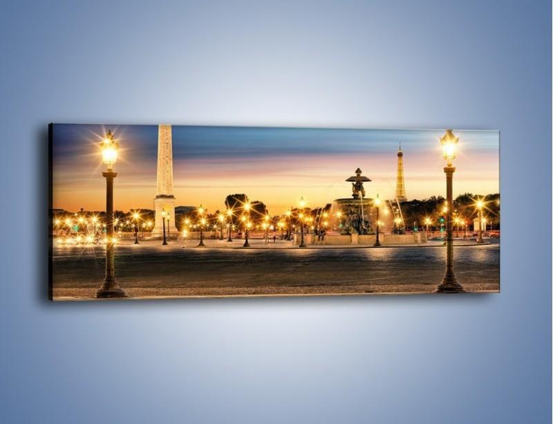 Obraz na płótnie – Place de la Concorde w Paryżu – jednoczęściowy panoramiczny AM404