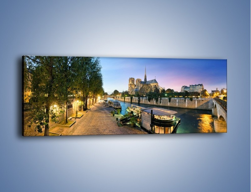 Obraz na płótnie – Katedra Notre Dame – jednoczęściowy panoramiczny AM405