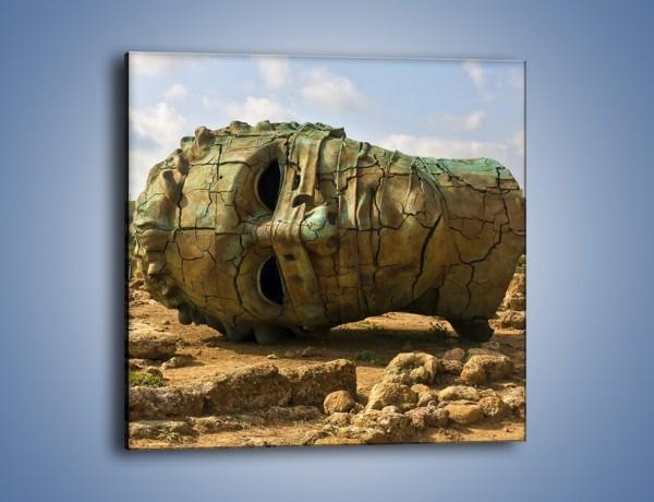 Obraz na płótnie – Ruiny Świątyni Kastora i Polluksa – jednoczęściowy kwadratowy AM705