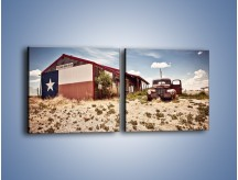 Obraz na płótnie – Autem przez texas – dwuczęściowy kwadratowy poziomy KN874