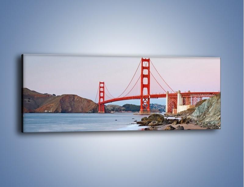 Obraz na płótnie – Most Golden Gate – jednoczęściowy panoramiczny AM406