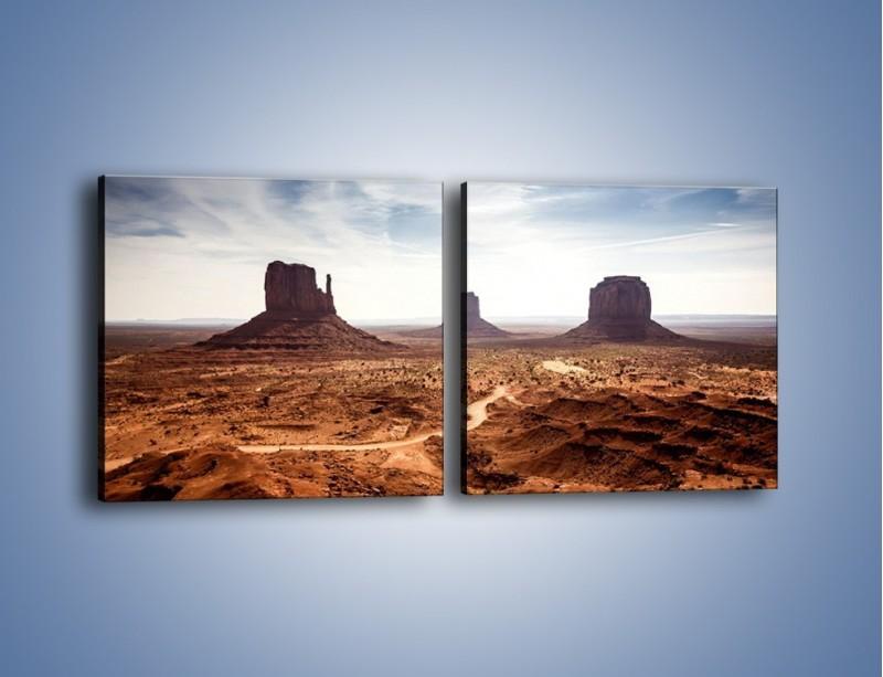 Obraz na płótnie – Spragniona ziemia skąpana w słońcu – dwuczęściowy kwadratowy poziomy KN943